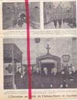 Orig. Knipsel Coupure Tijdschrift Magazine - Gaesbeek , Gaasbeek - Ouverture Chateau Musée , Kasteel - 1924 - Ohne Zuordnung