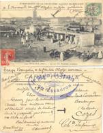 TROUPES D'OCCUPATION DE LA FRONTIERE ALGÉRO-MAROCAINE 1e Rgt De SPAHIS 2e Esc. OUDJA MAROC 28-12-1908 + T Pour TAXE - Military Postmarks From 1900 (out Of Wars Periods)