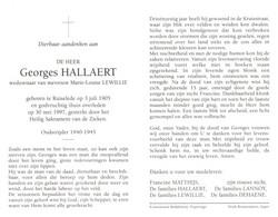 Georges Hallaert (1905-1997) ~ Oudstrijder (1940-1945) - Imágenes Religiosas