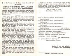 Maria Valentine Hallaert (1898-1973) - Imágenes Religiosas