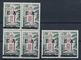 EC-891: ALGERIE: Lot Avec   N°362** (bloc De 4 + Paire) - Algerien (1962-...)