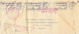 MARINE AU MAROC ★ ETAT-MAJOR ★ COURRIER OFFICIEL – CACASABLANCA-POSTES Du 17-JUIN  1952 - Naval Post