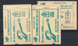 EC-895: FRANCE: Lot Avec Carnets Fermés  N°1536AC1 (3) - Usados Corriente