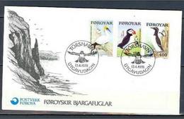 Féroé 30/32 En FDC TB Oiseau - Isole Faroer