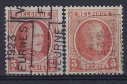 HOUYOUX Nr. 192 Voorafgestempeld Nr. 3168 A + B  VEURNE  1923  FURNES ; Staat Zie Scan ! - Rolstempels 1920-29