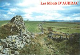 CPSM Les Monts D'Aubrac-Beau Timbre    L863 - Non Classés
