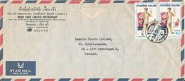 Thailand Air Mail Cover Sent To Denmark - Tailandia
