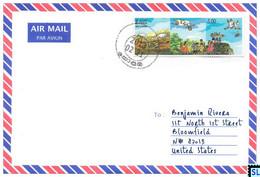 Sri Lanka Stamps, Children's Story, The Story Of How The Tortoise Flew, Crain, Personalized Cover - Sri Lanka (Ceylon) (1948-...)