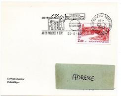 ARCHITECTURE = 13 AIX En PROVENCE Ppal 1982 =  FLAMME CONCORDANTE N° 2194 SECAP Illustrée 'Festival  Fondation Vasarely' - Mechanical Postmarks (Advertisement)