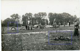 Allemande Carte Photo - 02 (Aisne) Abgeschossenes British Flugzeug Toter Pilot (1-3)- WWI 1.WK Guerre 14/18 - 1914-18