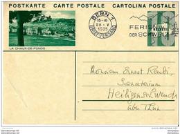 """28-24 - Entier Postal Avec Illustration """"La Chaux-de-Fonds"""" Oblit Mécanique 1935 - Entiers Postaux"""
