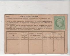 Dépêche Réponse Avec Napoléon N°20 Neuf - 1862 Napoleon III