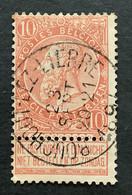 Leopold II Fijne Baard OBP 57 - 10c Gestempeld  EC BOUCHOUT LEZ LIERRE - 1893-1900 Barbas Cortas