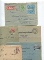 8538) 10 Belege Gesamtdeutschland - Affrancature Meccaniche Rosse (EMA)