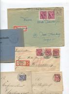 8369) 10 Belege Gesamtdeutschland - Affrancature Meccaniche Rosse (EMA)