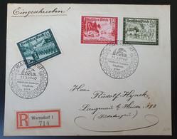 Deutsches Reich 1940, Reko Brief MiF WARNSDORF Sonderstempel - Covers & Documents