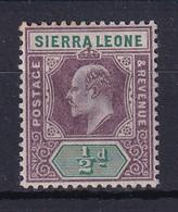 Sierra Leone: 1903   Edward     SG73     ½d      MH - Sierra Leone (...-1960)