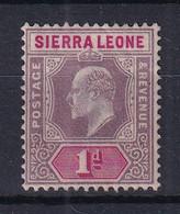 Sierra Leone: 1903   Edward     SG74     1d      MH - Sierra Leone (...-1960)