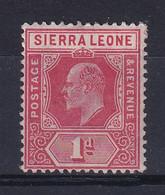 Sierra Leone: 1907/12   Edward     SG100a     1d  Red   MH - Sierra Leone (...-1960)