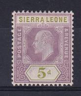 Sierra Leone: 1907/12   Edward     SG106     5d    MH - Sierra Leone (...-1960)