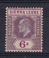 Sierra Leone: 1907/12   Edward     SG107     6d    MH - Sierra Leone (...-1960)