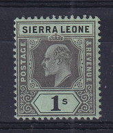 Sierra Leone: 1907/12   Edward     SG108     1/-    MH - Sierra Leone (...-1960)