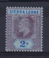 Sierra Leone: 1907/12   Edward     SG109     2/-    MH - Sierra Leone (...-1960)