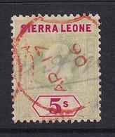 Sierra Leone: 1907/12   Edward     SG110     5/-    Used Fiscal - Sierra Leona (...-1960)