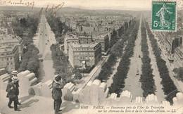 PARIS : PANORAMA PRIS DE L'ARC DE TRIOMPHE - Andere