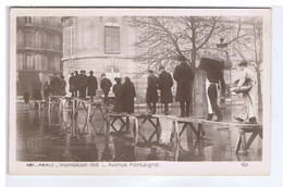 PARIS - Inondation 1910 - Avenue Montaigne ( Animation ) - Inondations