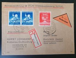 Deutsches Reich 1941, Reko Nachnahme Brief MiF MUNSTER(Lager) Nach FREISTETT - Storia Postale