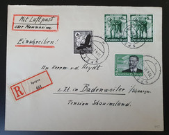 Deutsches Reich 1938, FLUGPOST Reko Brief MiF SPEYER Nach BADENWEILER - Storia Postale