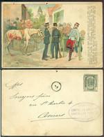 Belgique 1904 CPA Un Souvenir Du Raid Militaire Bruxelles-Ostende (27 Avril 1902) Obliterée Speciale - Other
