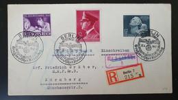 Deutsches Reich 1942, Reko Brief MiF BERLIN Sonderstempel Nach NÜRNBERG - Lettres & Documents
