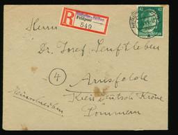 Feldpost 549 Reco Beleg Neheim-Hüsten 1944 EF Mi Nr. A795 Gelaufen über Deutsch Krone Nach Arnsfelde Pommern - Brieven En Documenten