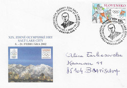 2002 Hommage à M. Buckna Entraineur De L'équipe Tchèque De Hockey Sur Glace, Médaillée Argent 1948 à St Moritz - Inverno1948: St-Moritz