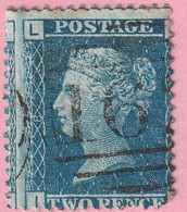 Rare Timbre Victoria 2 Pence Défaut Décalage  D'impression - Used Stamps