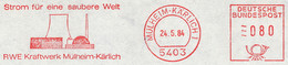Freistempel Kleiner Ausschnitt 100 RWE Kraftwerk Mülheim-Kärlich - Machine Stamps (ATM)