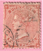 Timbre Victoria 4 Pence - Used Stamps
