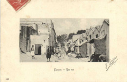 TLEMCEN  Une Rue Animée J Geiser Alger RV - Tlemcen