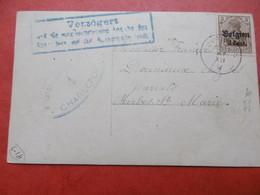 BUVRINNES 30-12-1917 Vers Merbes-Ste-Marie Fam. Douniaux. Verzögert ... (retardé, Info Requise Expedieteur Manquante...) - [OC1/25] Gen. Gouv.