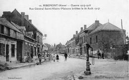 S5647 Cpa 02 Ribemont - Guerre 1914 - Rue Général Saint Hilaire - Other Municipalities