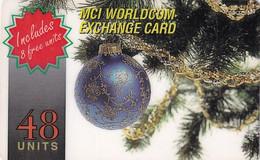 USA - Christmas, MCI Prepaid Card 48 Units, Used - Unclassified