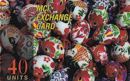 USA - Easter, MCI Prepaid Card 40 Units, Used - Unclassified