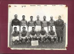 210821A - PHOTO SPORT FOOT équipe De FRANCE 1950 - Match FRANCE BELGIQUE IBRIR GARRIGA ARNAUDEAU LAMY SCOTTE DOYE KARGU - Sports