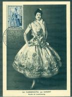 FRANCE N° 956 Carte Maximum Femme Ob. Gf DIJON 1957 Foire Gastronomique   TB - 1950-59