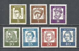 Germany Bundes Rep. 1961 Year MNH(**) Mi.# 347-55x - Unused Stamps