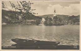 8654) BLED Z OTOKOM - Ruderboot Wasser Kirche TOP Very Old - Slovenia