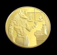 1 Pièce Plaquée OR ( GOLD Plated Coin ) - Egypte Dieu Anubis - Altre Monete