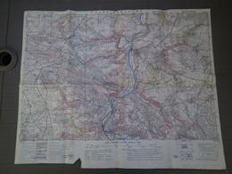 THURY HARCOURT - RARE CARTE ANGLAISE TOPOGRAPHIQUE  - SOLDAT BATAILLE DE NORMANDIE  1944 - 1/25.000 Ed JUILLET 1943 - 1939-45